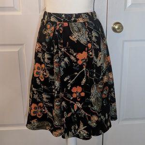 LuLaRoe Madison floral pocketed skirt size Small